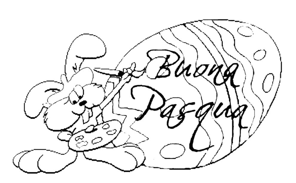 Disegno Di Uovo Buona Pasqua Da Colorare Per Bambini