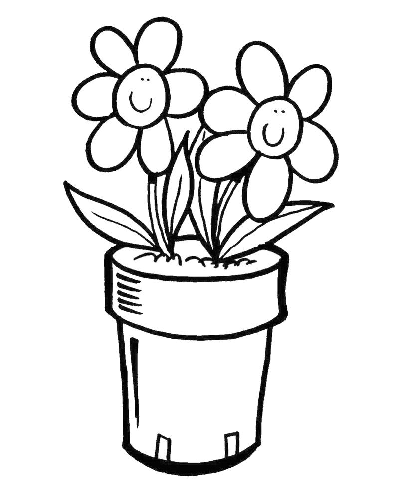 Disegni di vasi con fiori gh91 regardsdefemmes for Fiori da colorare e stampare