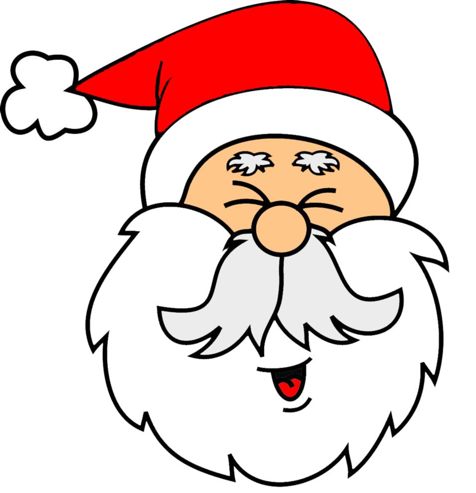 Immagini Di Babbi Natale.Disegno Di Viso Di Babbo Natale A Colori Per Bambini